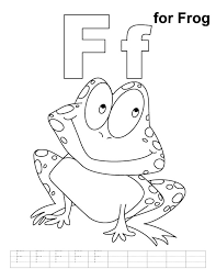 frog coloring handwriting practice download free