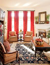 staggering bright red curtain panels decorating ideas images in
