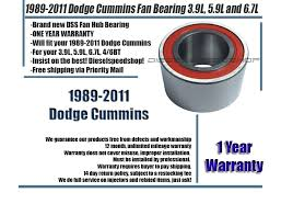 dodge cummins fan hub bearing diesel fan hub bearing fits dodge cummins 2500 3500 1989 2012 3 9