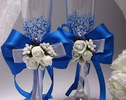 royal blue wedding royal blue wedding glasses royal blue gold lace toasting