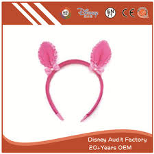 deer ears headband plush pink deer ears headband printing pattern stuffed and plush
