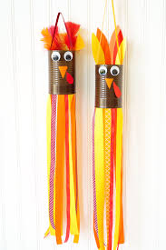 thanksgiving craft turkey windsocks happiness is