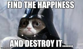 Happiness Meme - grumpy cat star wars meme imgflip