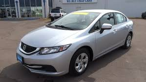 used 2014 honda civic sedan lx silver for sale in great falls mt