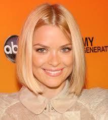 short haircuts hair parted in middle jaime king short sleek center parted bob hairstyle jaime king