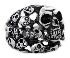 steel skull rings images Steel skull rings metal skull rings men 39 s skull rings jpg