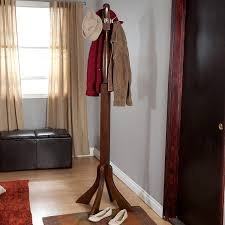 amazon com free standing coat rack from solid wood with metal
