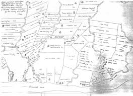 13 Colonies Map Blank by Woodward Site Land Records