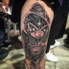 no stencil no sketching biomechanical tattoo 2014 freestyle by