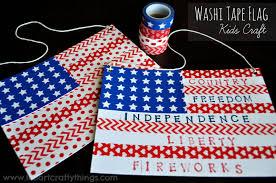 washi flag craft i crafty things