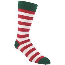 christmas socks and green striped christmas socks