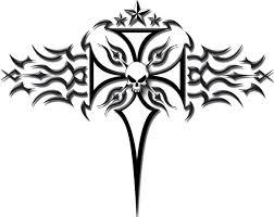 tattoo cross tribal design tribal tattoo cross vinyl vehicle decal clip art library sanyangfrp