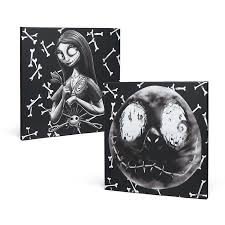 nightmare before christmas jack and sally canvas set exclusive
