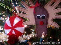handprint santa ornament and poem kindergarten creations