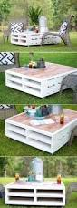 diy outdoor coffee table with 4 hidden side tables small coffee