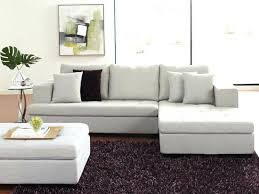 sectional sofa with large ottoman u0026 burlap colored oversized