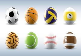 sports easter eggs sporty easter eggs vectors free vector stock