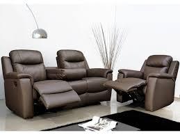 canapé et fauteuil relax evasion en cuir 4 coloris