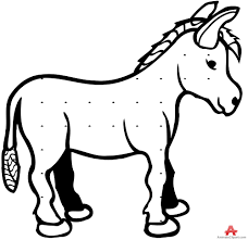 baby donkey outline drawing free clipart design download