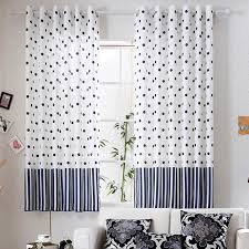 Blue Toile Curtains Artful Polka Dots Bay Window Blue And White Toile Curtains