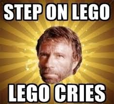Chuck Meme - when chuck norris steps on lego chuck norris facts know your meme