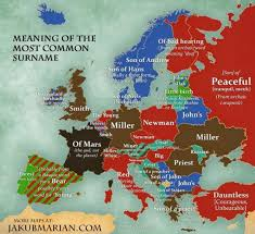 marian map this map shows the most common surnames in europe indy100