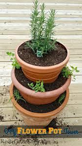 small flower pot best 25 flower pot tower ideas on pinterest stacked pots