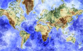 World Map High Resolution by Detailed Watercolor Worldmap Toeholds