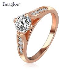 aliexpress buy beagloer new arrival ring gold beagloer new ring for women gold color with austrian