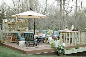 Deck In The Backyard How To Build A Diy Floating Deck In A Sloped Backyard