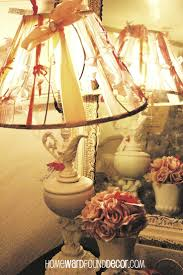 97 best lampshade decor images on pinterest lampshades shabby sweet lampshade decor inspiration from deb at homewardfound decor