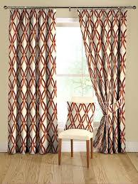 Bright Red Sheer Curtains Bright Red Sheer Curtain Panels Geometric Drapery Ideas For The