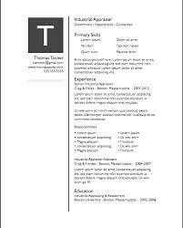 one page resume template simple modern resume template for pages