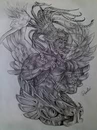 aztec warrior drawings top aztec warrior tattoo drawing