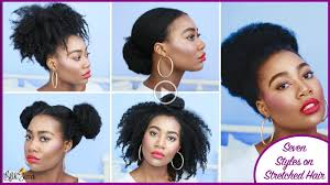 7 super easy styles on stretched natural curlynikki