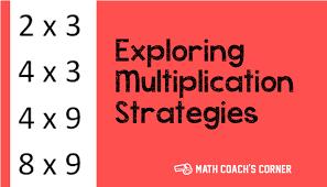 strategies for basic multiplication facts math coach u0027s corner