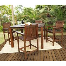 Patio Bar Height Dining Table Set Shop Darlee 5 Piece Charleston Cushioned Cast Aluminum Oakland