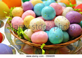 malted easter eggs malted candy balls with easter eggs stock photo royalty free