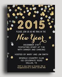 new year invitation card shining polka dot new years printable invitation card for 2015