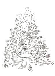 santa claus as christmas tree u201d by saul steinberg c 1949