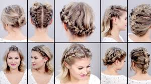 step by step braid short hair 10 super easy faux braided short hairstyles topsy tail edition