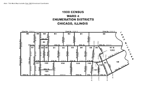 City Of Chicago Ward Map by 1900
