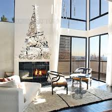 creative diy 3d plastic wall mirror sticker elegant christmas tree