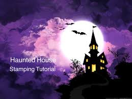 haunted house stamping nail art tutorial uber chic halloween