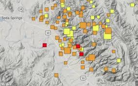 Pop Vs Soda Map Earthquake Cluster In Soda Springs Sparks Fears For Idahoans