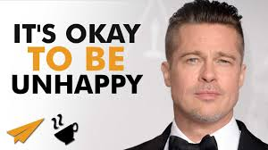 it u0027s okay to be unhappy brad pitt entspresso youtube