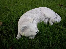 sleeping cat 40 auckland garden ornaments direct from the factory