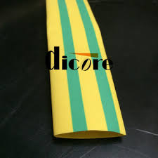 30mm dia yellow green stripe heat shrink sleeve for grounding wire