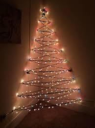 stick christmas tree with lights christmas tree on wall with lights pinotharvest com