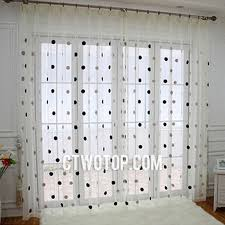 White Black Curtains Dreamy Translucent Thin White Black And Brown Polka Dot Curtains